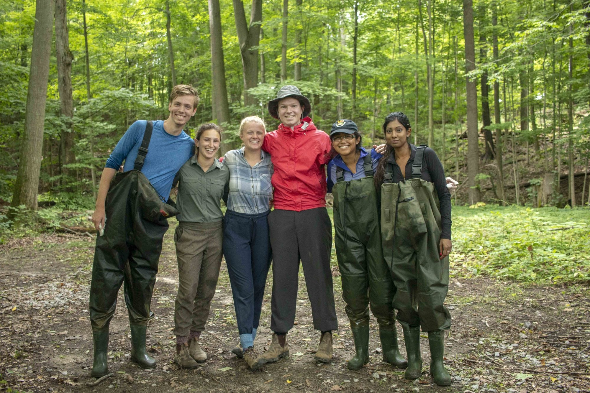 This team, comprised of PhD, MSc and summer students, is one of several that spend the summer collecting samples for ecosystem services research.